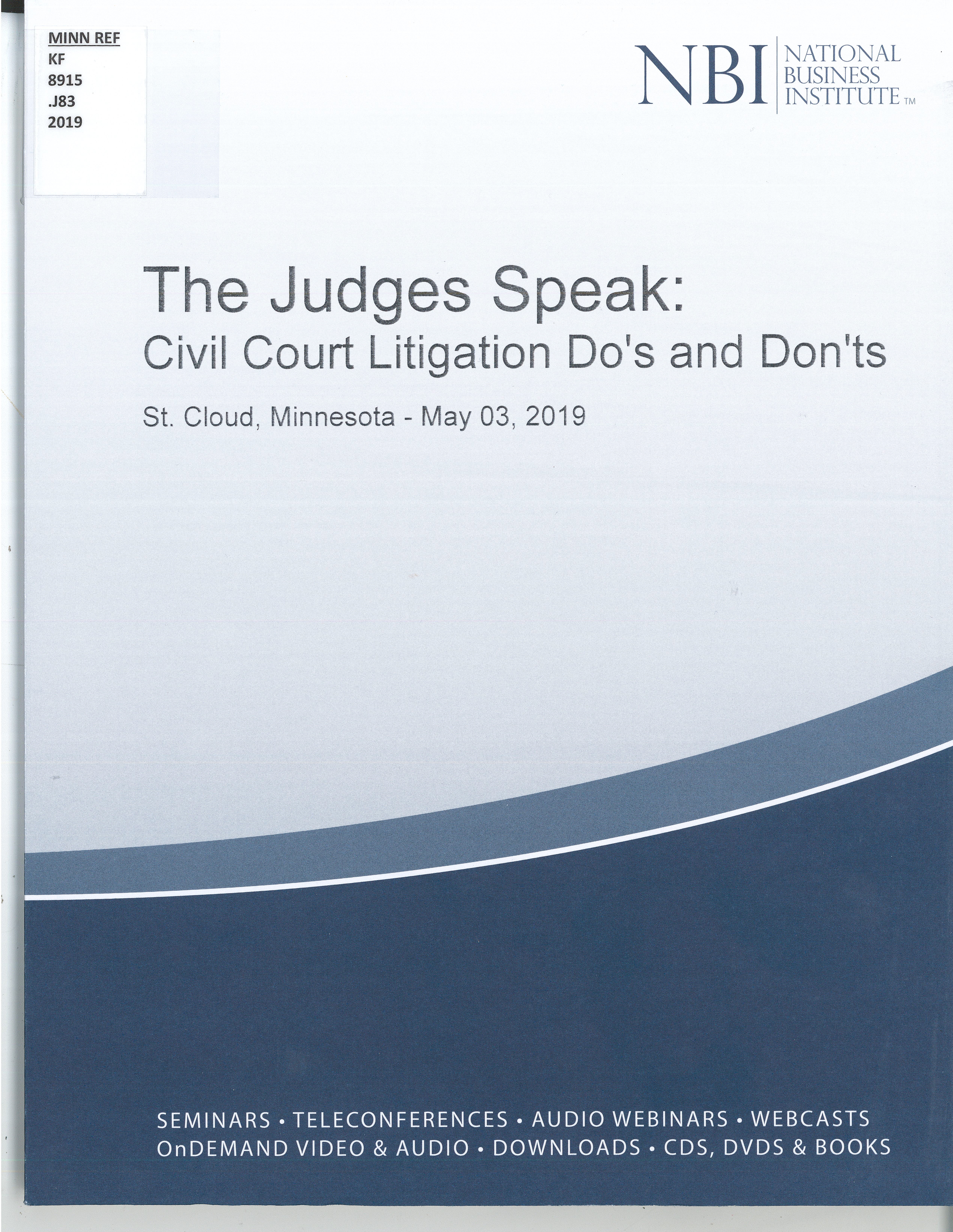 The Judges Speak