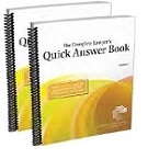 The complete lawyer's quick answer book cover
